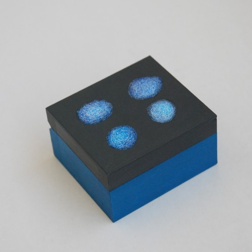 "Extra Small wooden box ""Azure blue"" (box-22)"