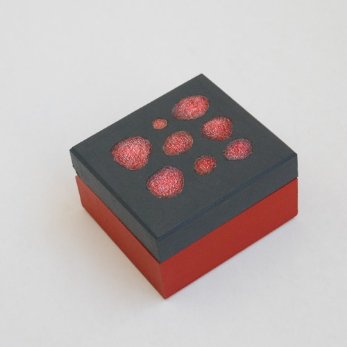 "Extra Small wooden box ""Red"" (box-23)"