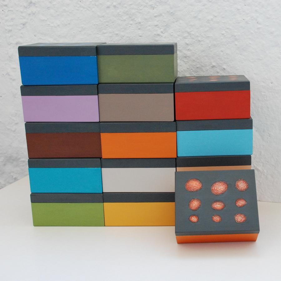 """Maža medinė dėžutė """"Oranžinė"""" (box-02)"""