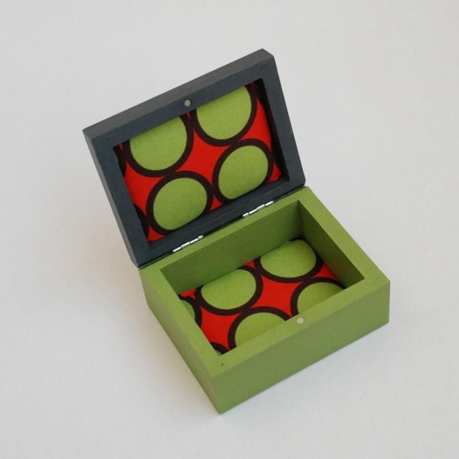 """Maža medinė dėžutė """"Žalia"""" (box-03)"""