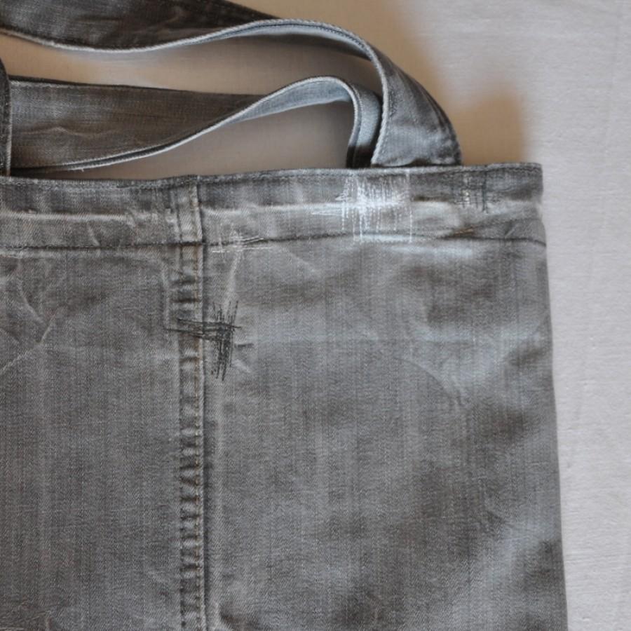 Šviesiai pilka džinsinė terbelė pirkiniams