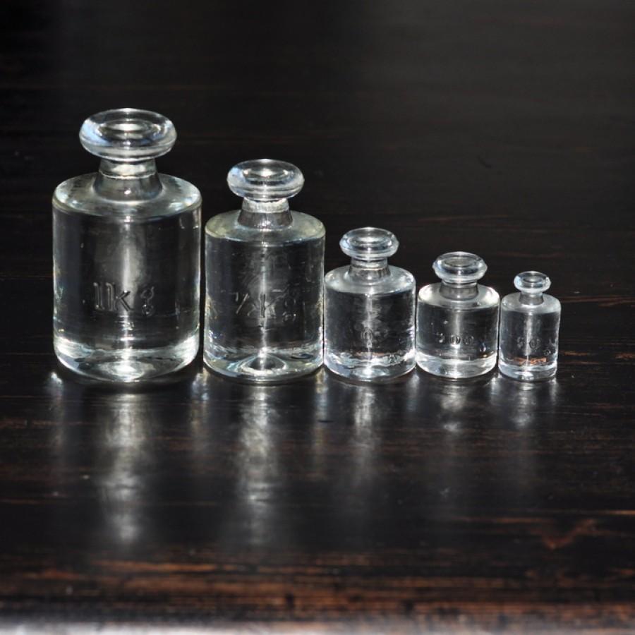 Stikliniai dekoratyviniai svareliai (rinkinys iš 5 vnt.)