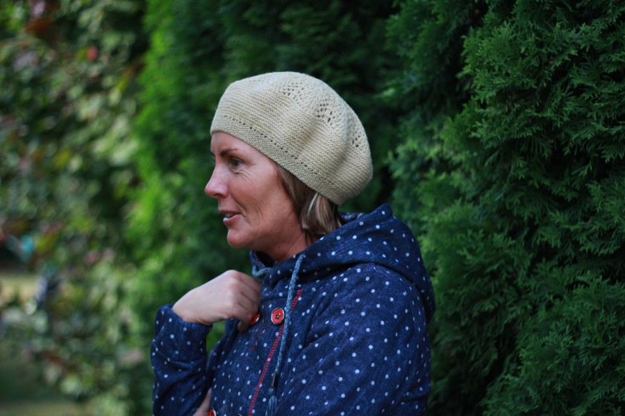 A hand-knit hat for a nice spring