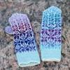"""Original, hand knitted, warm, woolen Mittens """"Butterflies"""""""
