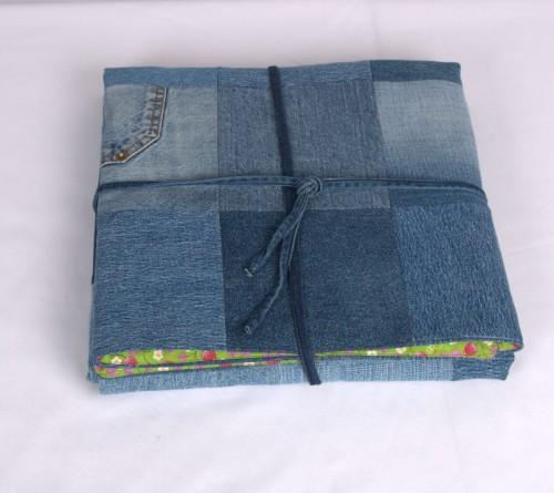 Džinso skiaučių antklodėlė