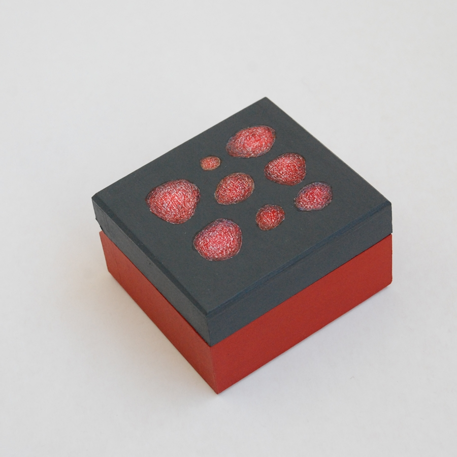 """Extra Small wooden box """"Red"""" (box-23)"""