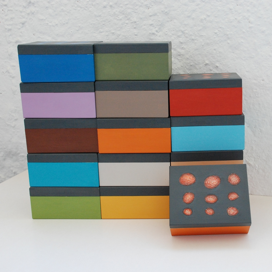 """Maža medinė dėžutė """"Geltona"""" (box-01)"""