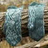"Original, woollen, hand knitted Mittens ""Silver Fishies"""