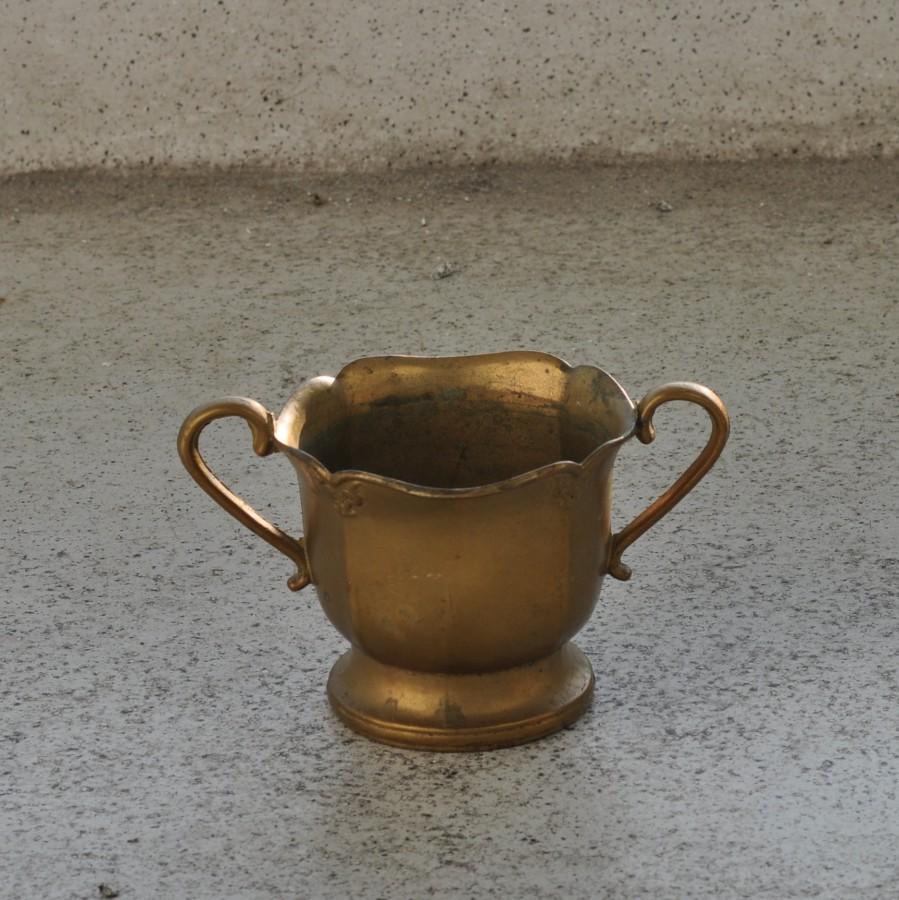 Vintage brass pot